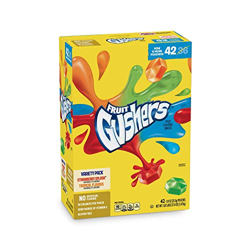Fruit Gushers Variety Pack, Strawberry Splash & Tropical (42 ct.) A1