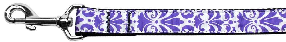Mirage Pet Products Damask Nylon Dog Leash, Purple, 6'