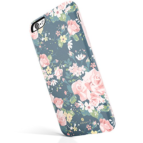 iPhone 6 Plus/iPhone 6s Plus case, Vintage Floral Pattern, Akna Hard Silicon Back Cover for Girls (233-U.S)
