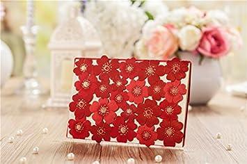 amazon com wishmade new red sunflower style laser cut wedding