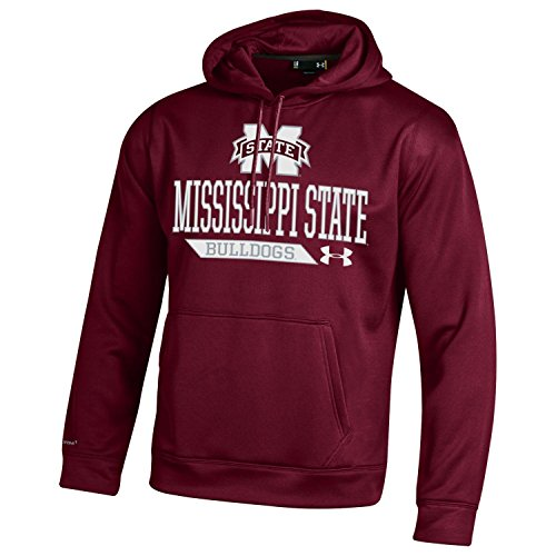 NCAA Mississippi State Bulldogs Men's Armour Fleece Hoodie, Small, Maroon