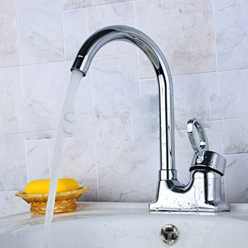 LDONGSH Cottage Kitchen Brass Bathroom Toilets Brushed Faucet Tap by LDONGSH