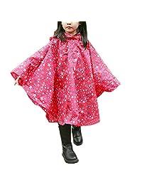 SogetsuYo Children's Waterproof Hooded Raincoat, Rain Jacket Poncho for Kids