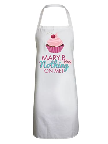 Grindstore Mary B Has Nothing On Me Apron White