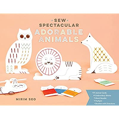 Chronicle Books Sew Spectacular: Adorable Animals (Sewing & Paper Craft Activity Book, Creative Art Gift for Tweens): Seo, Mirim: Toys & Games