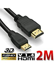Proxima Direct 2M HDMI to Mini HDMI Cable High Speed 1080p Full HD V1.4 Video Camera UltrabooksHero 7 Black 6 Hero 5, Camera, ASUS Zenbook Laptop