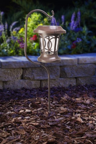 Moonrays 91399 Solar Powered Bradbury Hanging LED Plastic Stake Light, Brown Style: Bradburry, Model: 91399, Home/Garden & Outdoor Store