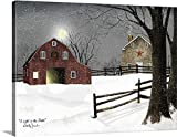 Billy Jacobs Premium Thick-Wrap Canvas Wall Art 24X30 Inch (Light in the Stable)