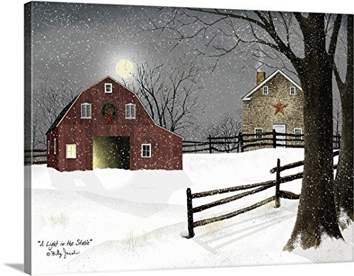 Billy Jacobs Premium Thick-Wrap Canvas Wall Art 24X30 Inch (Light in the Stable) by B-Arts