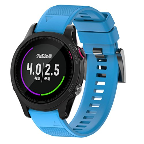 Garmin Forerunner 935 Watch Band, MoreToys Silicone Quick Fit Wrist Band Replacement Straps Bracelet for Garmin Forerunner 935 GPS Watch (Sky Blue)