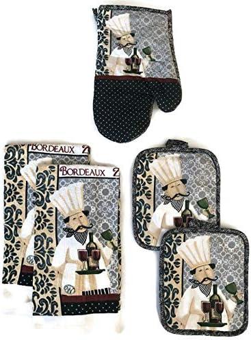 Christmas Design Set of Apron Ideal Gift Set Kitchen Linen Set