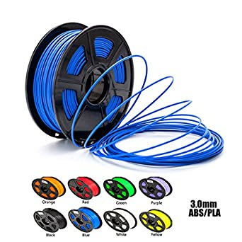 Aimple ABS 3D Printer Filament 3 mm Blue 1kg(2.2Lbs)/Spool-Dimensional Accuracy +/-0.02mm