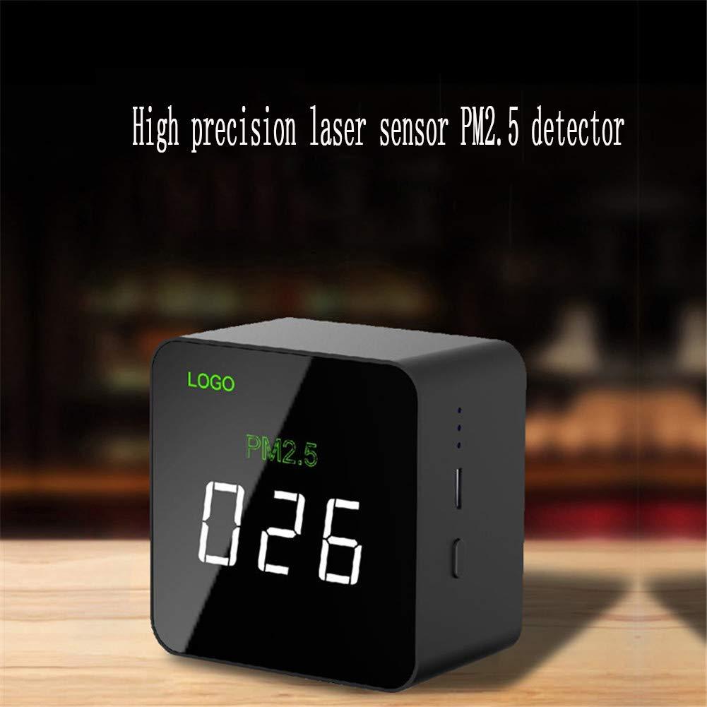LDRAGON Monitor de Calidad de Aire de Mano de Gas PM 2.5 Detector, analizador de Gas multifunción portátil de Alta precisión con Pantalla LCD Tiempo USB ...