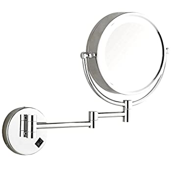 Amazoncom Dowry Wall Mounted Led Lighted Makeup Mirror Hard Wire