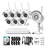 Zmodo-720p-HD-10-Megapixel-Wireless-Surveillance-IP-Network-Security-Camera-System-8CH-NVR-1TB-Hard-Drive-with-IR-Night-Vision-Motion-Detection-and-Remote-Access
