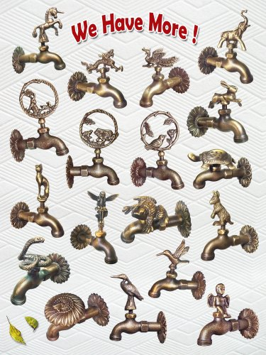 Amazon.com : Decorative Solid Brass Frog Garden Outdoor Faucet : Outdoor  Faucets : Garden U0026 Outdoor