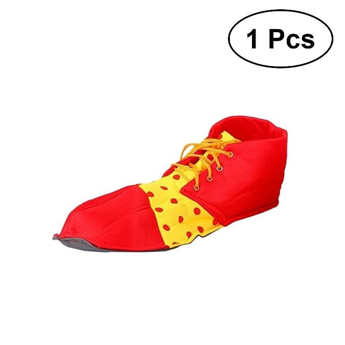 Bestoyard Carnevale Partito Clown Del Da Rifornimenti Scarpe nkOP80w