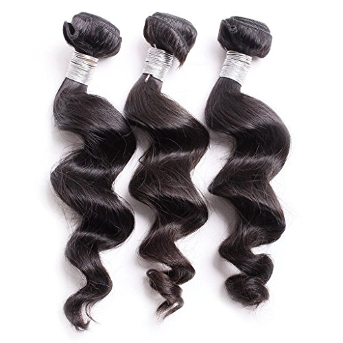 Taobaopit-Mixed-Length-16-18-20-Loose-Wave-Brazilian-Virgin-Remy-Human-Hair-Weave-Weft-3-Bundles-300-Grams-Unprocessed-Natural-Color-Extensions-100-Brazilian-Human-Hair-Extensions