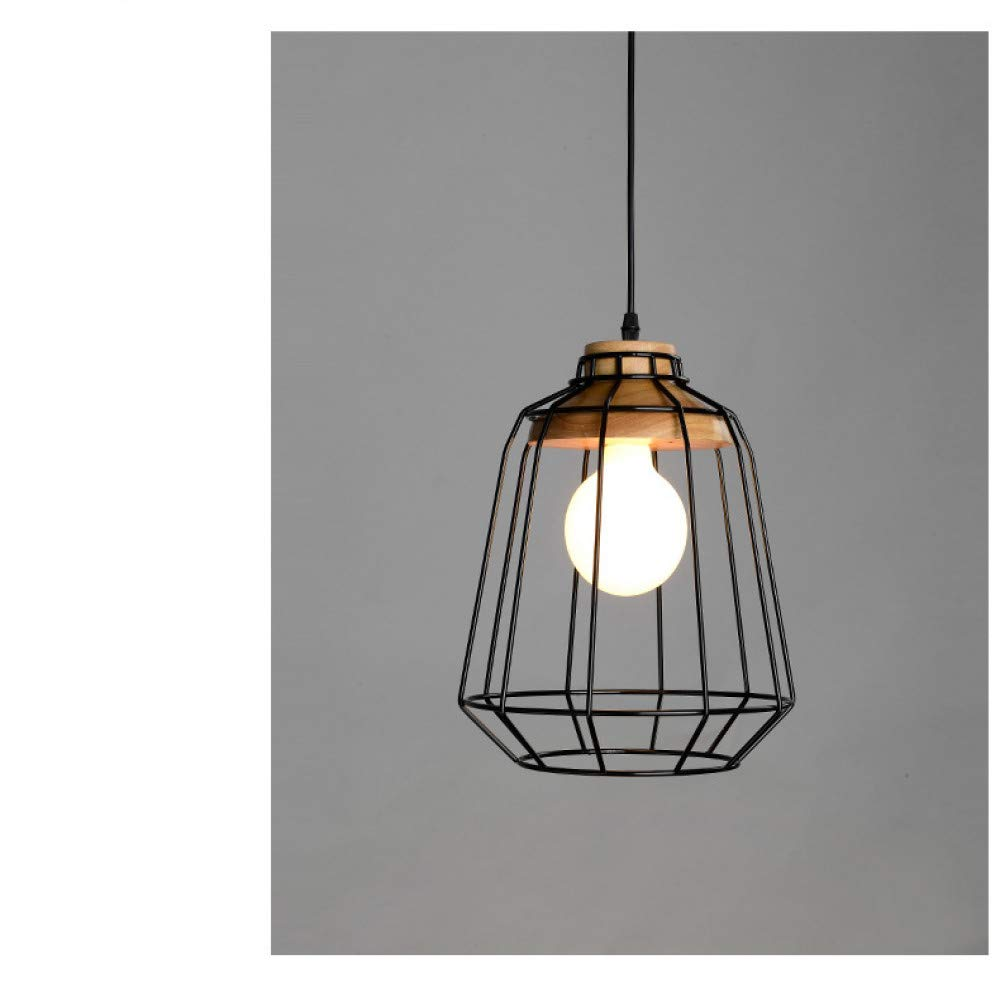 Kreative einfache Restaurantbeleuchtung der nordischen Persönlichkeit, die Esszimmergang Garderobengeschäftbalkon festes Holzweinlese-Schmiedeeisen-Kronleuchterlampeschatten belichtet