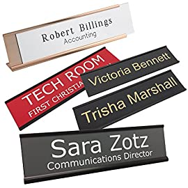 Personalized Name Plate With Wall or Office Desk Holder