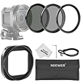Neewer® 52MM Filter Kit for GoPro Hero 4 Session: (3)Filters(UV+CPL+ND4)+(1)Lens Filter Adapter Ring+(1)Hexagonal Screwdriver+(1)Keeper Leash+(1)Cleaning Cloth+(1)Filter Carrying Pouch