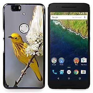 Eason Shop / Premium SLIM PC / Aliminium Casa Carcasa Funda Case Bandera Cover - Flor Flores - For Huawei Google Nexus 6P