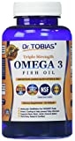 Cheap Dr. Tobias Omega 3 Fish Oil Triple Strength, Burpless, Non-GMO, NSF-Certified with Enteric Coating, 60 Count