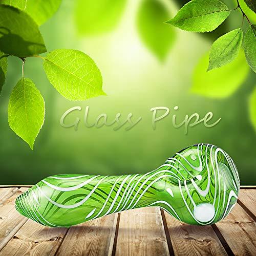 LCD Newest 4 Inch Glass Art Tube (Green Stripe)