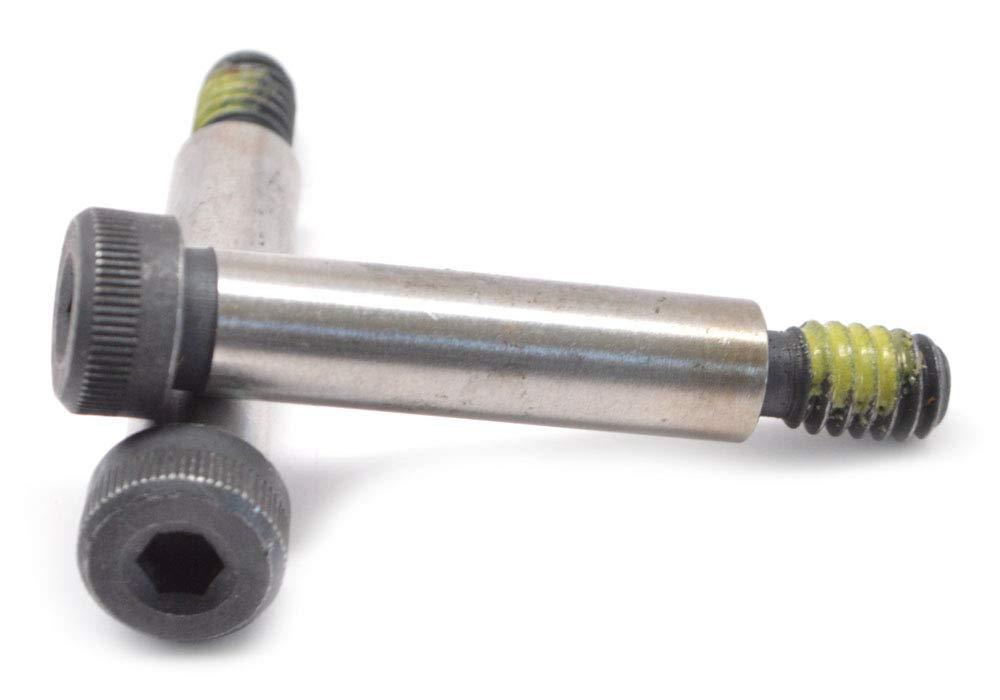 3//8-5//16-18 x 3 Coarse Thread Socket Shoulder Screw Nylon Patch Alloy Steel Black Oxide Pk 25