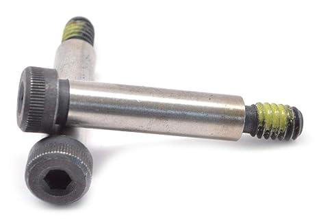 5//8-1//2-13 x 2 1//4 Coarse Thread Socket Shoulder Screw Nylon Patch Alloy Steel Black Oxide Pk 25