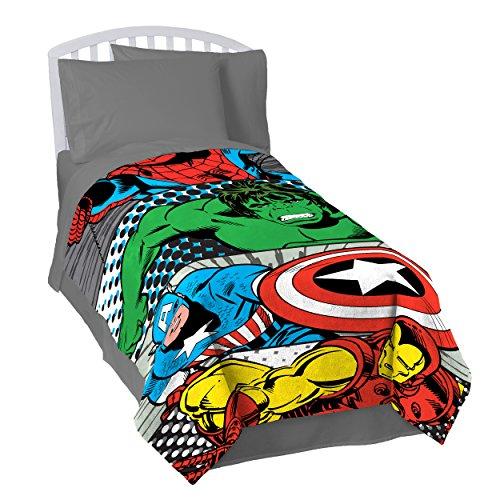 "Marvel Comics 'Teamwork' Twin Plush Blanket, 62"" x 90"""