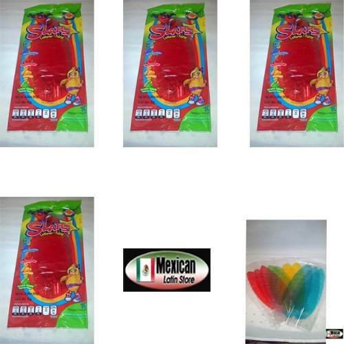 7x10 Slaps Cachepigui (Cachetadas) Tropical Fruit Lollipop Candy (70pc)