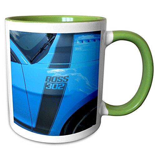 3dRose 62430_7 The The Boss 302 Mustang At Car Show In Florida, Green Mug 11 ()