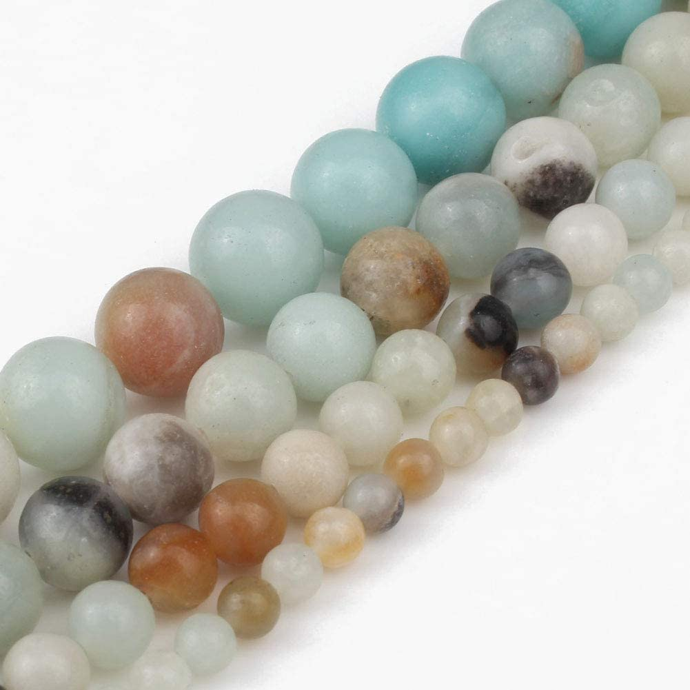 Love Beads Natural Matte Colorful ite 6mm Stone Beads for Jewelry Making 15 inches Beads