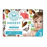 The Honest Company into the wild limited edition Disposable diapers, Canadian print, size 3, 34 Count