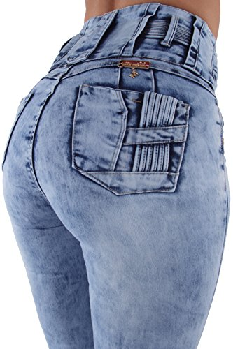 (Brazilian Design, Butt Lift, Supper High Waist, Skinny Jeans in Blue Size 0)