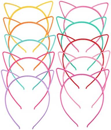 Candygirl Girl's Plastic Headbands Tiara Bunny Cat Bow Hairbands
