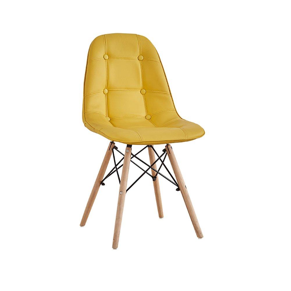 椅子現代シンプルスタディオフィスデスクスツール背もたれノルディックダイニングチェア (色 : イエロー いえろ゜, サイズ さいず : Set of 1) B07F9TJGWC Set of 1|イエロー いえろ゜ イエロー いえろ゜ Set of 1