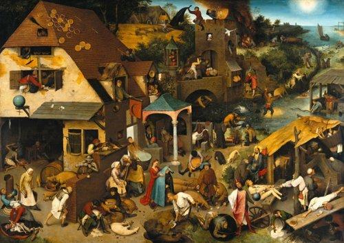 Artifact Puzzles - Bruegel Netherlandish Proverbs Wooden Jigsaw Puzzle