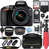 Nikon D3500 24.2MP DSLR Camera + AF-P DX 18-55mm VR NIKKOR Lens Kit + Accessory Bundle 64GB SDXC Memory + SLR Photo Bag...