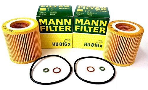 2 Pack MANN Oil Filter HU816X for BMW - E60 E65 E90 11 42 7 541 827 free shipping