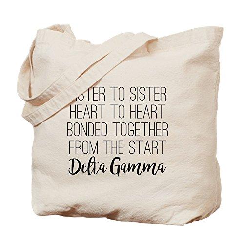 CafePress–Delta gamma hermana a hermana–Gamuza de bolsa de lona bolsa, bolsa de la compra