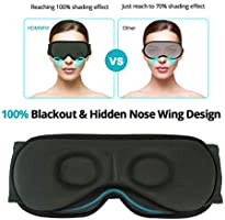 Amazon.com: HOMMINI Máscara de dormir, espuma viscoelástica ...