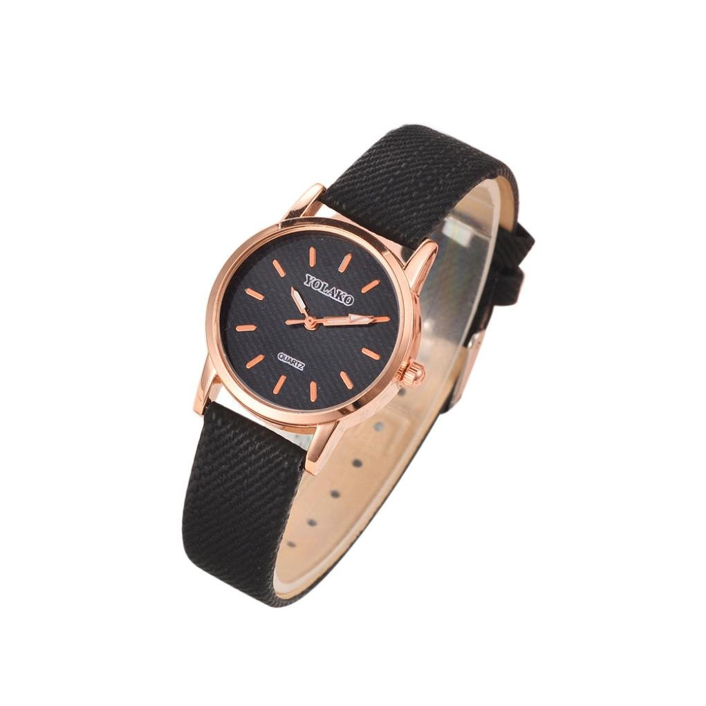 Watches for Women On Sale, Paymenow Women Quartz Stainless Steel PU Leather Casual Watch Analog Wrist Watches (H)