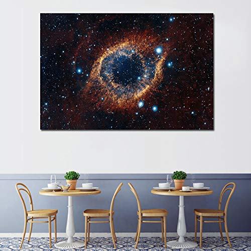 Glass figurines Picture Frame - Home Wall Art Decor Pictures Frame HD Prints Universe Space Nebula Painting Living Room Canvas Starry Sky Planet Poster