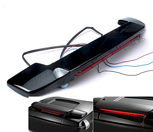 Gloss black Road King Tour Pak LED Tail Light Spoiler lights For Harley Touring FLT FLHT (Led Spoiler)