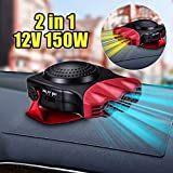 12v auto heater defroster - cjc 12V 150W Car Vehicle Cooling Fan Hot Warm Heater Windscreen Demister Defroster 2 in1 Portable Auto Car Van Heater(Red)