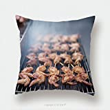 Custom Satin Pillowcase Protector Street Food Thai Barbecue Grilled Chicken_509003165 Pillow Case Covers Decorative