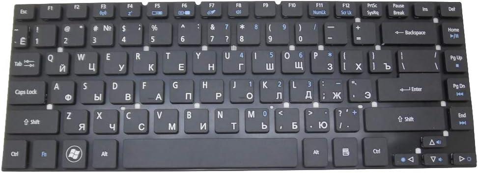 Laptop Keyboard for Acer Aspire One 10 S1001 3830G 3830TG 4755 4830G 4830TG V3-472G V3-472P V3-472PG Timeline 3830TG Russian RU Black NO Frame