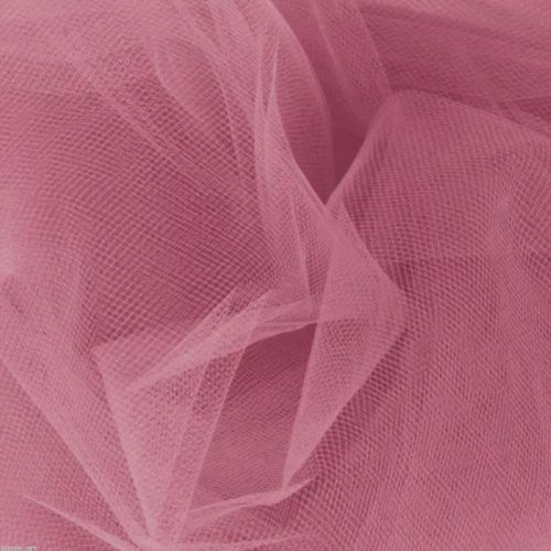 [Dusty Rose 54'' W Tulle 40 Yards By The Bolt WEDDINGS PARTIES UNDER LINING] (Costumes By Dusty)